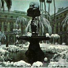 Postales: BARCELONA - NEVADA. PLAZA REAL - SIN CIRCULAR - 1963. Lote 32323457