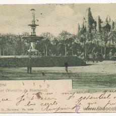 Postales: BARCELONA.- PARQUE (MONTAÑAS DE MONTSERRAT). (C.1900).. Lote 32324259
