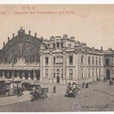 Postales: BARCELONA.- ESTACIÓN DEL FERRO-CARRIL DEL NORTE.. Lote 32343549