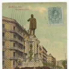 Postales: BARCELONA.- MONUMENTO Á CLAVÉ. (1908).. Lote 32347242