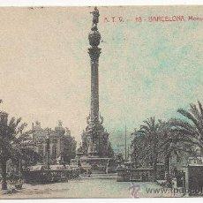 Postales: BARCELONA.- MONUMENTO A COLÓN.. Lote 32455606