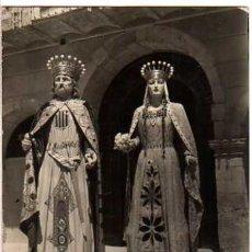 Postales: RIPOLL. LOS GIGANTES . CIRCULADA 1953. Lote 32477749