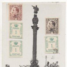 Postales: BARCELONA.- MONUMENT A CRISTÒFOR COLOM.- MONUMENTO A CRISTÓBAL COLÓN. (C.1925).. Lote 32478515