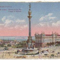 Postales: BARCELONA.- MONUMENTO DE COLÓN. PUERTA DE LA PAZ.. Lote 32480303