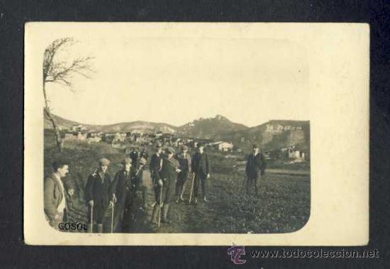 POSTAL DE GÒSOL: EXCURSIONISTES (VEURE FOTO ADICIONAL) (Postales - España - Cataluña Antigua (hasta 1939))