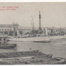 Postales: BARCELONA.- VISTA PARCIAL DEL PUERTO.. Lote 32512986