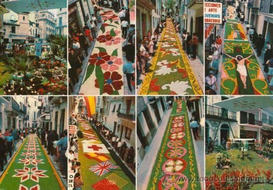 Postal alfombras de flores de sitges corpus comprar postales de catalu a en todocoleccion - Alfombras en barcelona ...