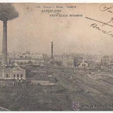 Postales: BARCELONA.- VISTA DESDE MIRAMAR. (C.1905).. Lote 32518981