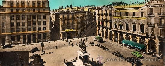 TARJETA SUPERPANORÁMICA (22,00 X 9,00 CM) REUS, TARRAGONA, PLAZA PRIM, TALLERES A. ZERKOWITZ (Postales - España - Cataluña Antigua (hasta 1939))