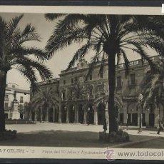 Postales: VILLANUEVA Y GELTRU - 12 - PLAZA 18 DE JULIO Y AYUNTAMIENTO -GRAFICAS GULIARA - CIRCULADA -(10.964). Lote 32547784
