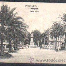 Postales: TARJETA POSTAL DE BARCELONA - PASEO DE COLON. DR.TRENKLER CO., BCA. 11. Lote 32553753