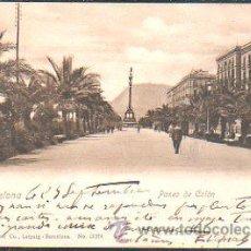 Postales: TARJETA POSTAL DE BARCELONA - PASEO DE COLON. DR.TRENKLER CO., 13374. Lote 32553964
