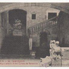 Postales: BARCELONA.- ESCALERA DEL ANTIGUO PALACIO DE LOS CONDES DE BARCELONA.. Lote 32567725
