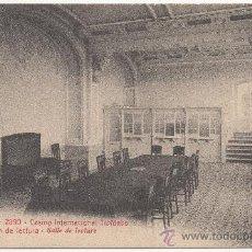 Postales: BARCELONA.- CASINO INTERNACIONAL TIBIDABO. SALÓN DE LECTURA.. Lote 32579130