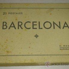 Postales: ANTIGUO ACORDEON DE 21 POSTALES DE BARCELONA EN BLANCO Y NEGRO -- C. MAURI. Lote 32620960