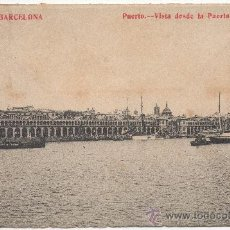 Postales: BARCELONA.- PUERTO. VISTA DESDE LA PUERTA DE LA PAZ. (C.1910).. Lote 32644071