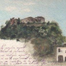 Postales: POSTAL PINTADA A MANO ACUARELA DE MARIA DESDE BLANES A BARCELONA 1906. Lote 32677300