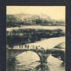 Postales: POSTAL DE LA SEU D' URGELL: PONT VELL SOBRE EL RIU VALIRA (CLAVEROL NUM. 18). Lote 32696009