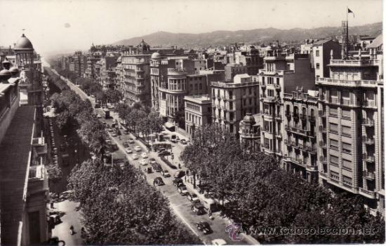 POSTALES. AVDA. GRALMO. FRANCO. BARCELONA. CATALUÑA. ESPAÑA. RASTRILLO PORTOBELLO (Postales - España - Cataluña Moderna (desde 1940))
