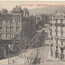 Postales: BARCELONA.- GAS LEBÓN (CALLE DE BALMES).. Lote 32725969