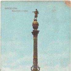Postales: BARCELONA.- MONUMENTO A COLÓN. (1908).. Lote 32743815