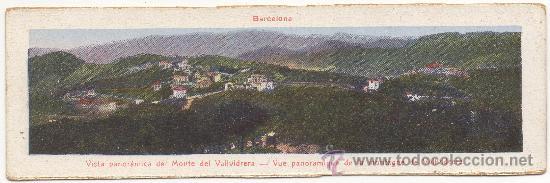 BARCELONA.- VISTA PANORÁMICA DEL MONTE DE VALLVIDRERA. (Postales - España - Cataluña Antigua (hasta 1939))