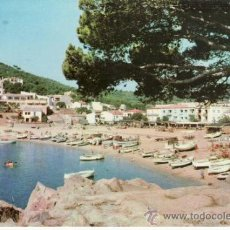 Postales: POSTAL FOTOGRÁFICA DE LA PLAYA DE TAMARIU. PALAFRUGEL. COSTA BRAVA. CATALUÑA. ESPAÑA.. Lote 32797112