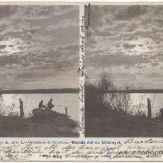 Postales: ALREDEDORES DE BARCELONA.- DETALLE DEL RÍO LLOBREGAT. (C.1900).. Lote 32809340