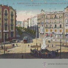 Postales: BARCELONA PLAZA DE LES CORTS CATALANS ESCRITA. Lote 32811802
