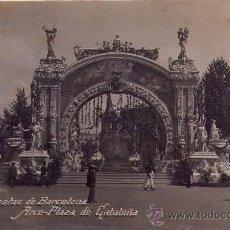 Postales: 'BARCELONA' -FIESTAS - ARCO DE LA PLAZA DE CATALUÑA- POSTAL AÑO 1910. Lote 32843947