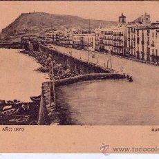 Postales: 'BARCELONA' -AÑO 1870 - MURALLA DEL MAR- POSTAL AÑOS 10'. Lote 32843969