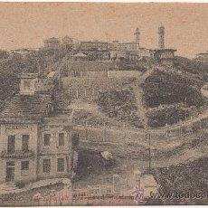 Postales: BARCELONA.- TIBIDABO (ALT. 532 M.). VISTA DE LA CÚSPIDE Y APEADERO DEL OBSERVATORIO.. Lote 32848279