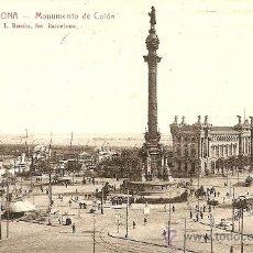 Postales: 3. BARCELONA. MONUMENTO DE COLÓN - L. ROISIN - CIRCULADA 1925 - REVERSO VISITE VDS. BARCELONA.... Lote 32881849