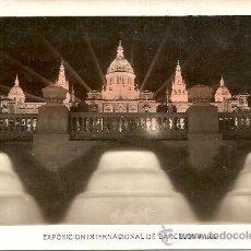 Postales: 143 EXPOSICIÓN INTERNACIONAL DE BARCELONA 1929 - PALACIO NACIONAL VISTA NOCTURNA - GRÁFICAS ORIOL. Lote 32882051