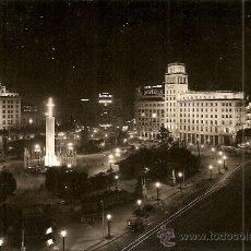 Postales: BARCELONA. LA PLAZA DE CATALUÑA DE NOCHE - SERIE I Nº 89 - FABREGAT - SIN CIRCULAR. Lote 32882701