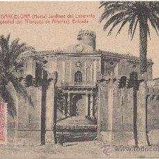 Postales: BARCELONA (HORTA). JARDINES LABERINTO, PROPIEDAD MARQUÉS DE ALFARRÁS. ENTRADA. (C.1905).- A.T.V. 181. Lote 32904201