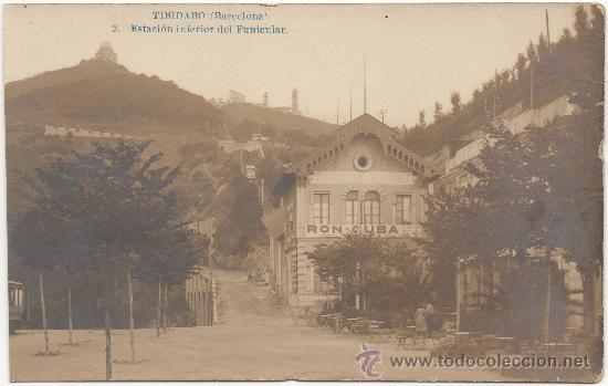 TIBIDABO (BARCELONA). ESTACIÓN INFERIOR DEL FUNICULAR. (Postales - España - Cataluña Antigua (hasta 1939))