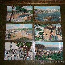 Postales: SEIS POSTALES COLOREADAS **TOSSA DE MAR** GIRONA. Lote 32975903