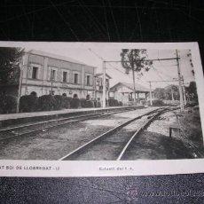 Postales: SANT BOI DE LLOBREGAT - ESTACIO DE FERROCARRIL, FOTOGRAFICA. Lote 33077736