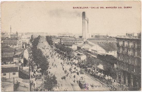 BARCELONA.- CALLE DEL MARQUÉS DEL DUERO. (Postales - España - Cataluña Antigua (hasta 1939))
