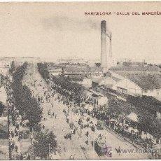 Postales: BARCELONA.- CALLE DEL MARQUÉS DEL DUERO.. Lote 33110287