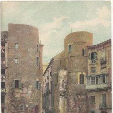 Postales: BARCELONA.- PLAZA NUEVA Y CALLE DEL OBISPO. (C.1905).. Lote 33124085