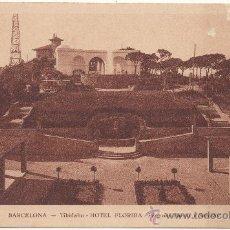 Postales: BARCELONA.- TIBIDABO. HOTEL FLORIDA. PÉRGOLAS, FUENTE Y SURTIDOR.. Lote 33132830