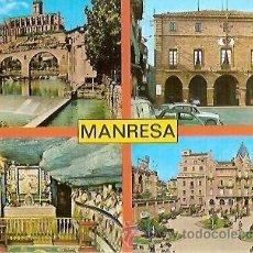 Postales: POSTAL A COLOR MANRESA CAPITAL COMARCA DEL BAGES VERT. Lote 33140750