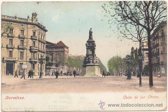 BARCELONA.- CALLE DE LAS CORTES. (C.1900). (Postales - España - Cataluña Antigua (hasta 1939))