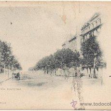 Postales: BARCELONA.- GRAN VÍA DIAGONAL. (C.1900).. Lote 33276917