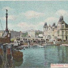 Postales: BARCELONA.- PUERTA DE LA PAZ Y COLÓN. (C.1910). Lote 33279923