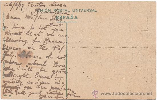 Postales: BARCELONA.- PUERTA DE LA PAZ Y COLÓN. (C.1910) - Foto 2 - 33279923