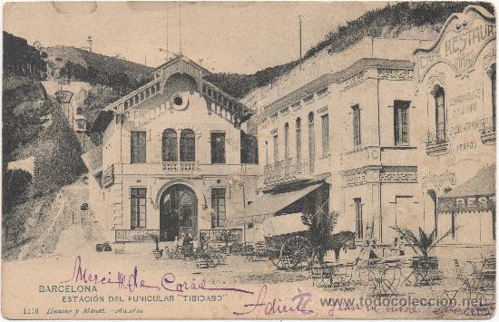 BARCELONA.- ESTACIÓN DEL FUNICULAR ``TIBIDABO´´. (C.1905). (Postales - España - Cataluña Antigua (hasta 1939))