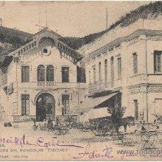 Postales: BARCELONA.- ESTACIÓN DEL FUNICULAR ``TIBIDABO´´. (C.1905).. Lote 33289853